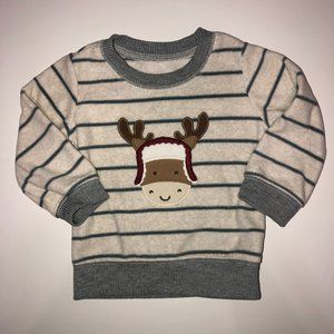 CARTERS Just One You Striped Reindeer Top 12M